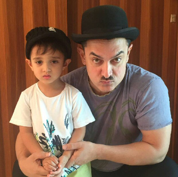 This picture of @aamir_khan with his son Azad Rao Khan is adorable beyond words! https://t.co/ey9a792Rdl