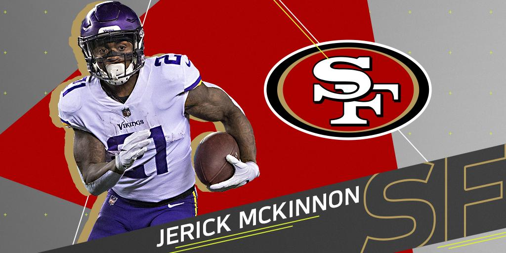.@49ers to sign RB Jerick McKinnon to four-year deal: https://t.co/6E1yAolEwI (via @RapSheet + @PSchrags) https://t.co/mtEcW5uroL