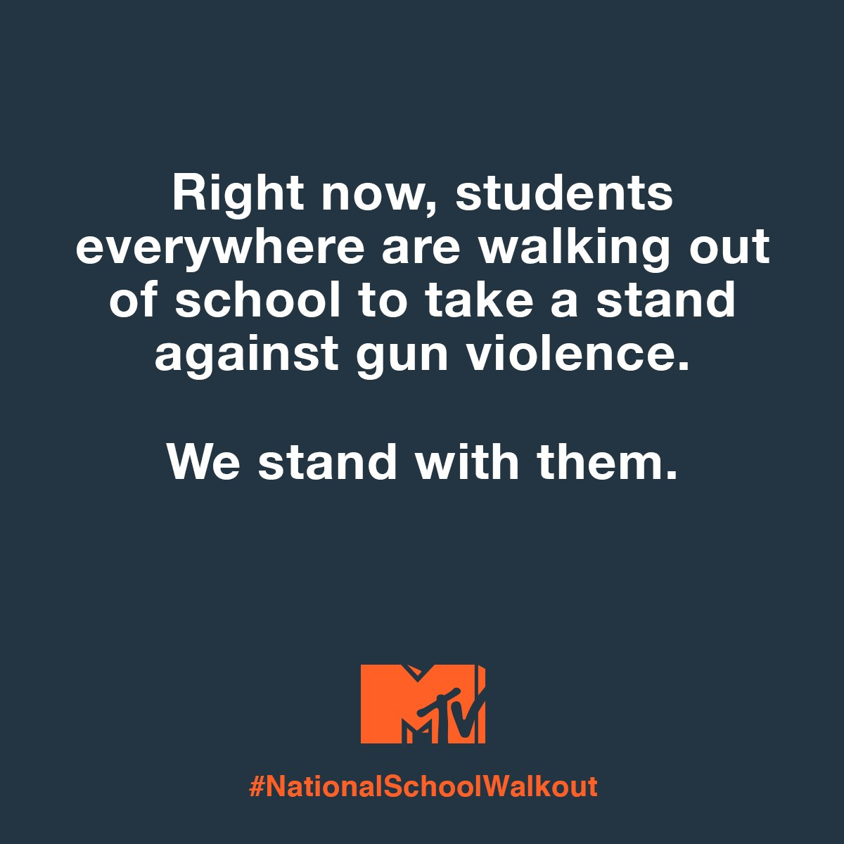 Today we stand in solidarity with the #NationalSchoolWalkout against gun violence. | https://t.co/7vbOJmqQkN https://t.co/q77qtSmCEe