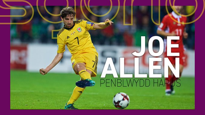 | JOE ALLEN  Penblwydd hapus yn 2 8 , Joe! | Happy 28th birthday to Joe Allen!