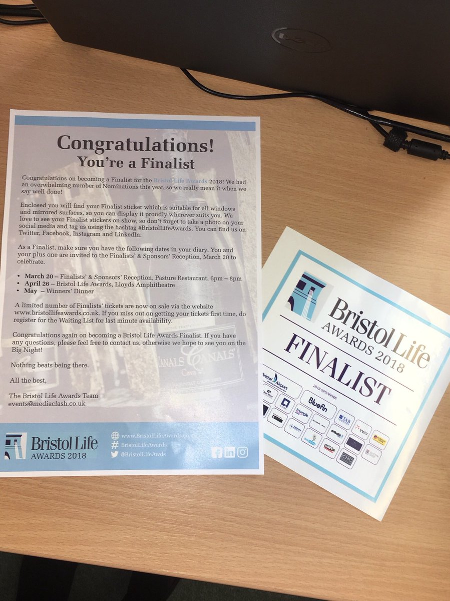 test Twitter Media - Exciting post for a Wednesday #BristolLifeAwards #InItToWinIt https://t.co/E1ljm1zHqX