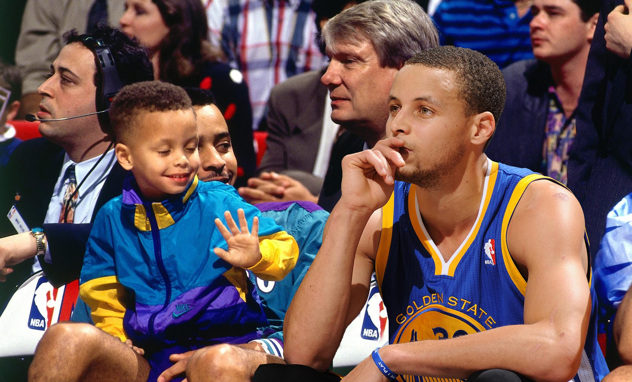 Steph Curry is turning 30. He's come a long way from a little kid watching his dad play in the NBA. https://t.co/8A1ZPQmWyN