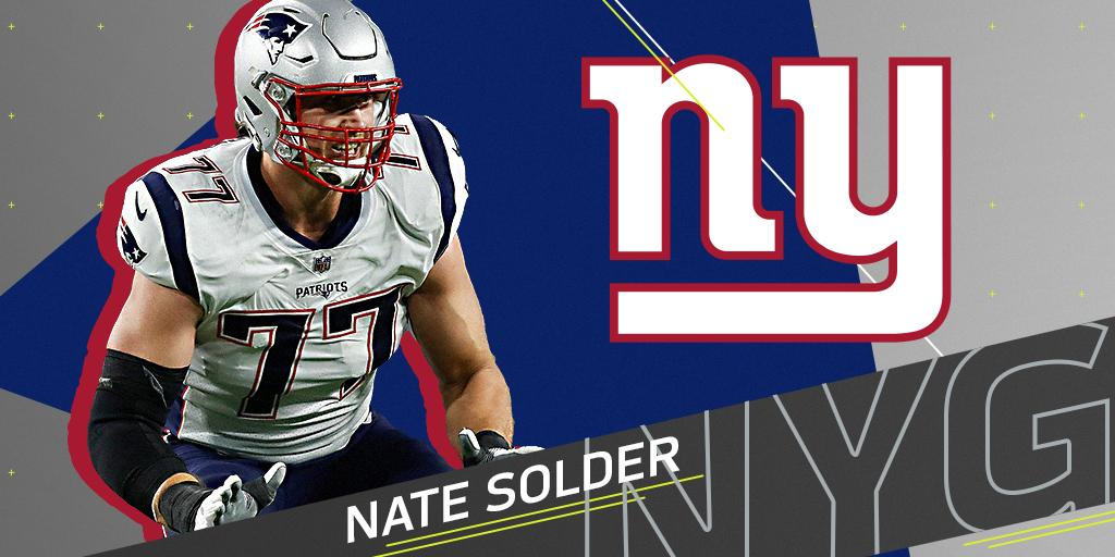 .@Giants expected to sign OT Nate Solder to four-year, $62M deal: https://t.co/HNCvf56zU7 (via @RapSheet) https://t.co/E2Rl7ByeW4