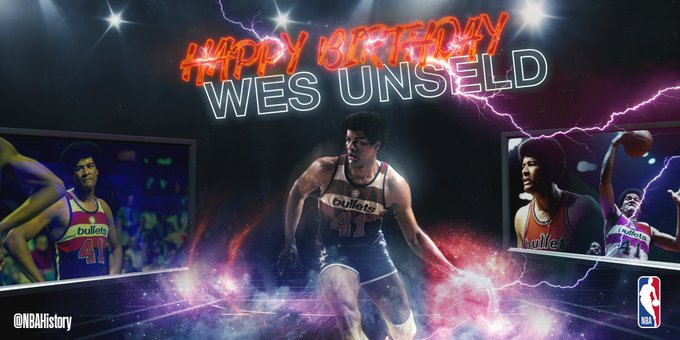 Happy 72nd Birthday to 5x All-Star and Hall of Famer, Wes Unseld!