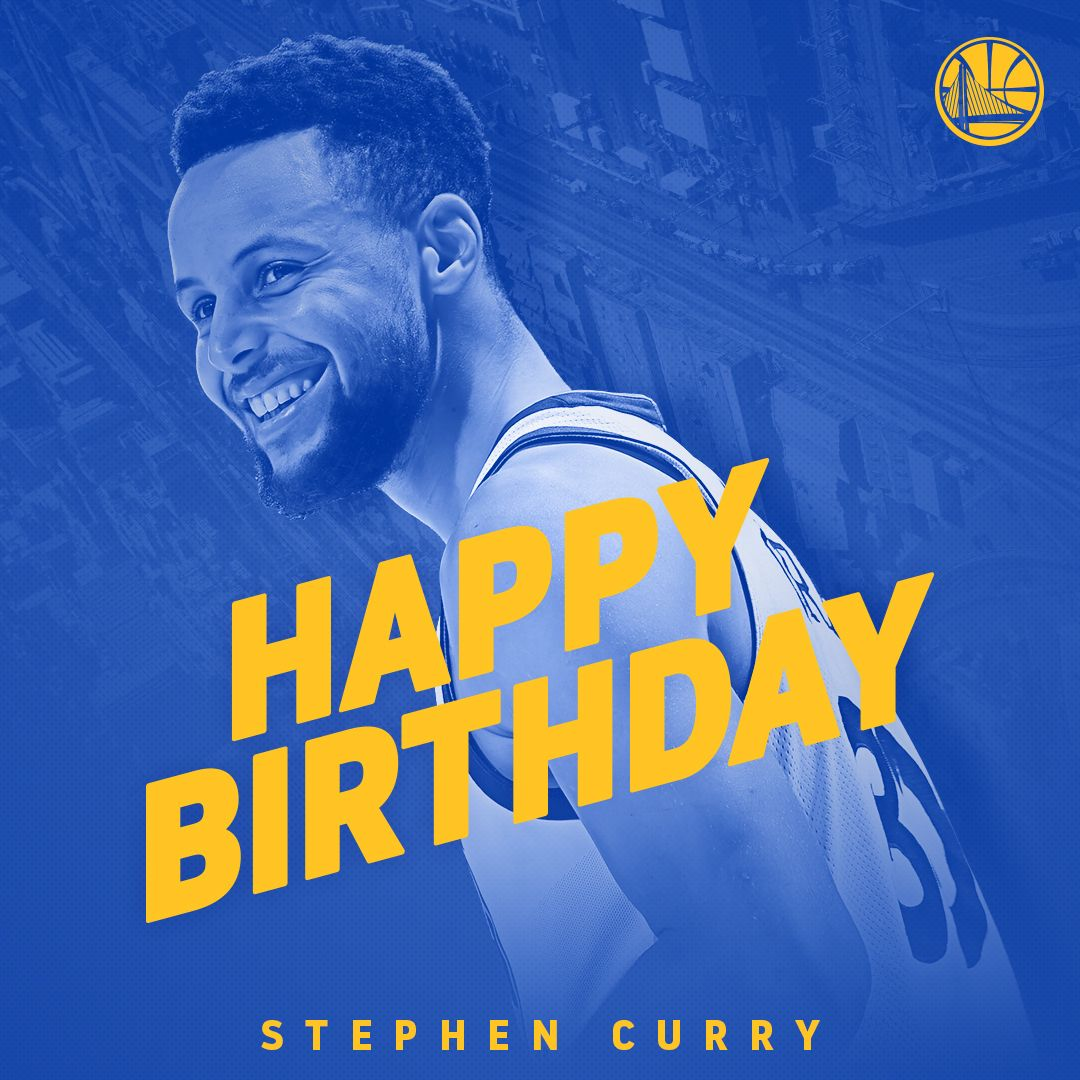 #DubNation, please join us in wishing @StephenCurry30 a very Happy 30th Birthday �� https://t.co/iLuT0R7ZDT