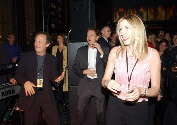 Happy 70th Birthday to Billy Crystal!  With Paul McCartney and Heather Mills, 2001
