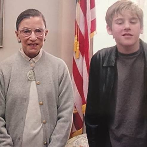 """Happy birthday, Ruth Bader Ginsburg! I still regret going through a \""""cool\"""" phase when we met in person!"""