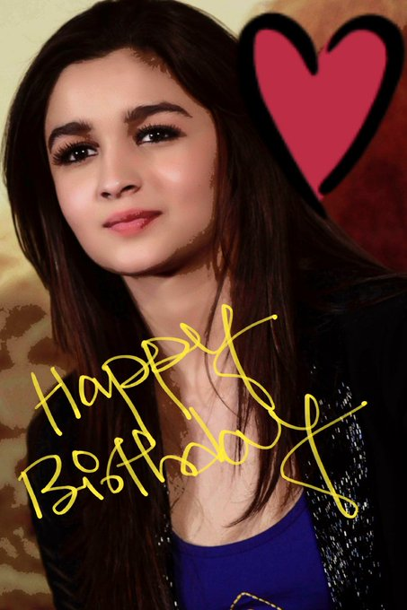 Happy birthday alia bhatt    Many many happy returns of the day  # superstar .