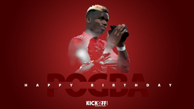 Serie A    Coppa Italia  Super Coppa  EFL Cup Europa League Happy Birthday, Paul Pogba!