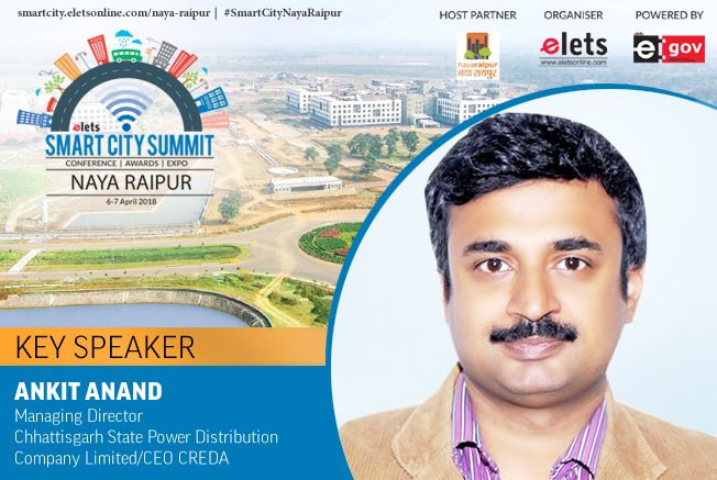 test Twitter Media - Elets Smart City Summit - Naya Raipur welcomes Ankit Anand, Managing Director, @CspdclOfficial & CEO, Chhattisgarh State Renewable Energy Development Agency, (CREDA) as Key Speaker  Visit: https://t.co/LYXTxF47ii #SmartCityNayaRaipur #RegisterNOW #Conference @Naya_Raipur https://t.co/XDyCIQNYTi