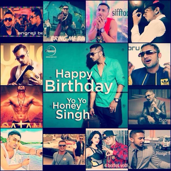 The Legend is arrived today... Happy Birthday Yo Yo Honey Singh......