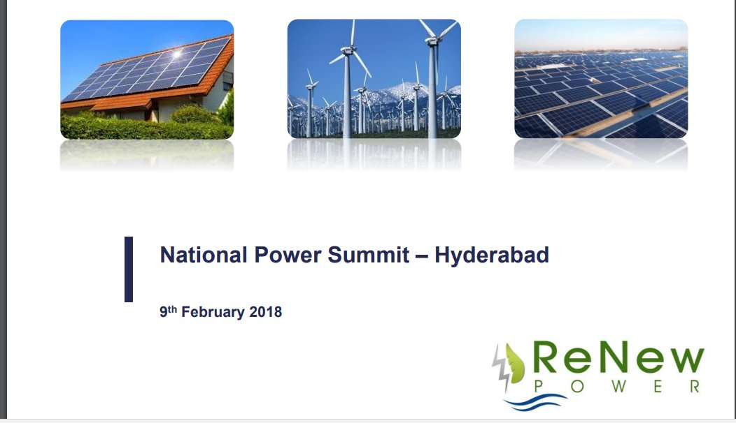 test Twitter Media - Presentation of Parag Sharma, Chief Operating Officer, @ReNew_Power https://t.co/49PyolOEjt at Elets National Power Summit,Hyderabad @sudhirelets @SAVDAGREAT @ravigupta1000 https://t.co/lISMbpycbk