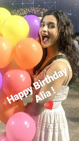 Wishing A Very Happy Birthday To Alia bhatt ! Stay Blessed, Stay Happy !                    . .