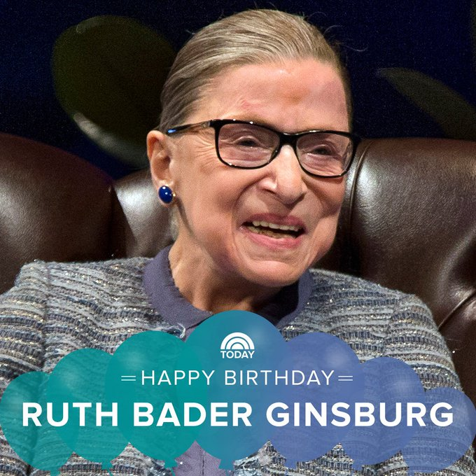 Happy 85th birthday, Ruth Bader Ginsburg!