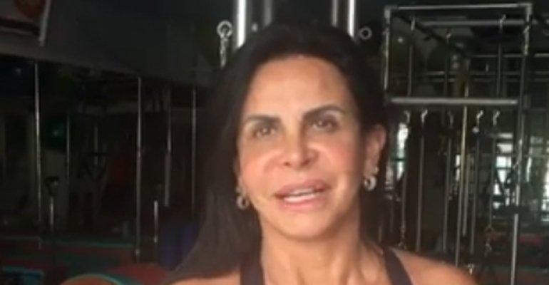 Mostra. Foto do site da Caras Brasil que mostra Gretchen mostra novo procedimento estético nos lábios confira