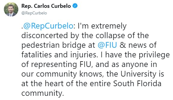 .@RepCurbelo on deadly Florida bridge collapse https://t.co/MiQYWDiEl3 https://t.co/sNnKMwE781