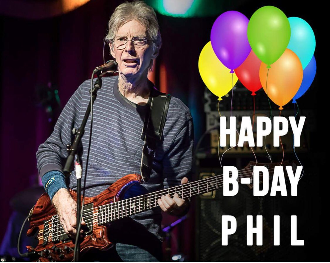 A very happy birthday to Phil Lesh and can t wait to see him Saturday!!!