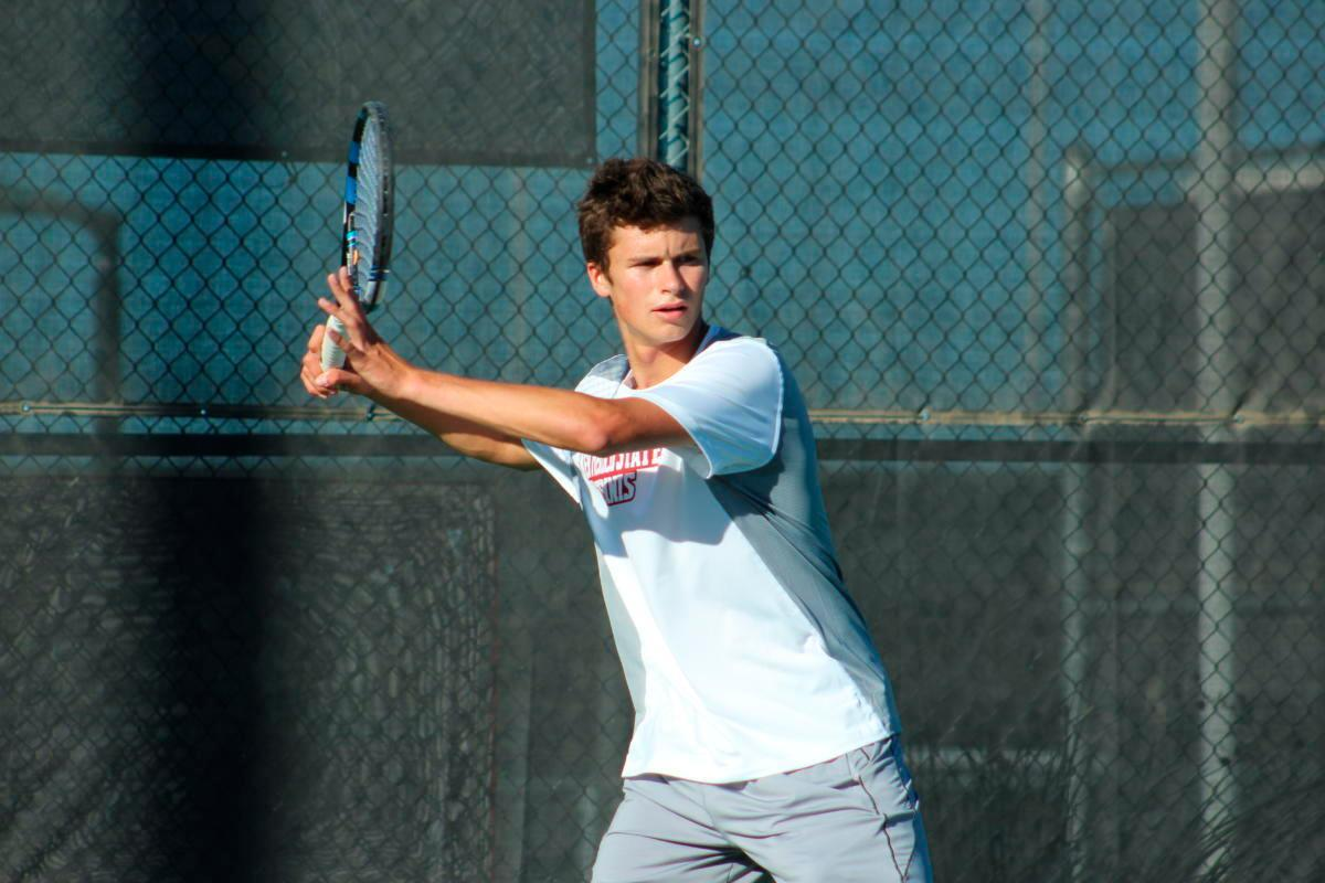 Aggie tennis men get long-awaited win vs. Lobos