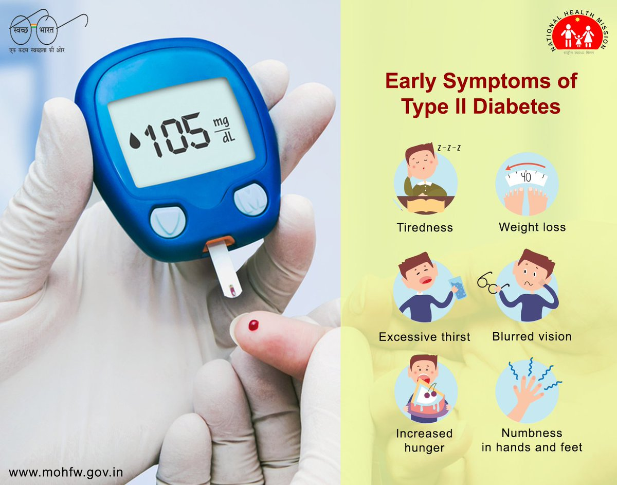 test Twitter Media - #Diabetes is a non-curable disease that affects the way your body handles glucose in your blood. If you have one or more of these symptoms, consult your doctor. It can be Diabetes. #SwasthaBharat #AyushmanBharat #BeatNCDs #MoHFW @JPNadda @AshwiniKChoubey @AnupriyaSPatel https://t.co/CCqUdyP6K5