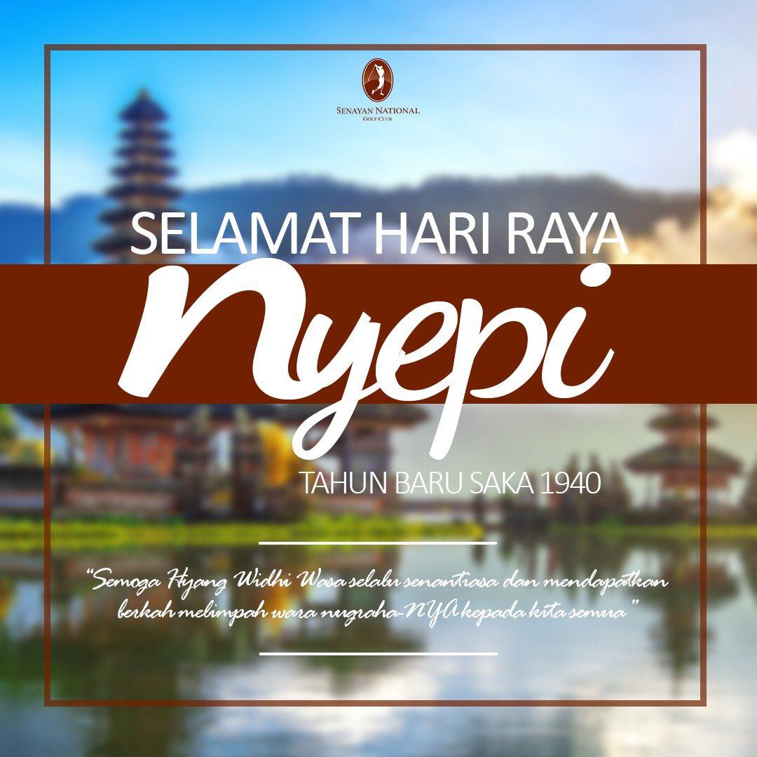RT @SenayanNational: Selamat memperingati hari raya Nyepi bagi seluruh Umat Hindu 🙏🏻 https://t.co/dUDitEyqqn