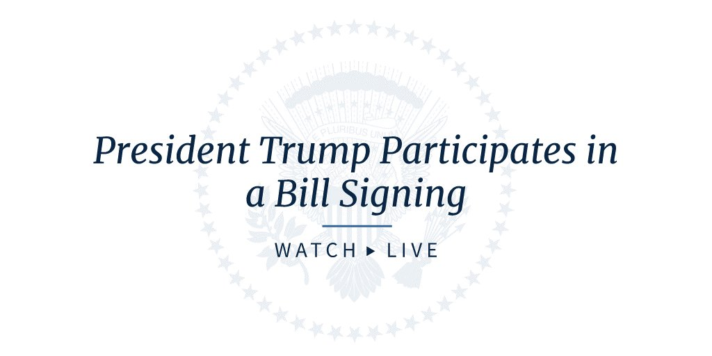 President Trump participates in a bill signing: https://t.co/EmsdctGWtd https://t.co/wzr70qec40