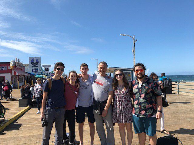 test Twitter Media - Heading back East, while in LA ran into groups of @wesleyan_u students at @TheBroad and at the beach! https://t.co/N5CqXhbXmt