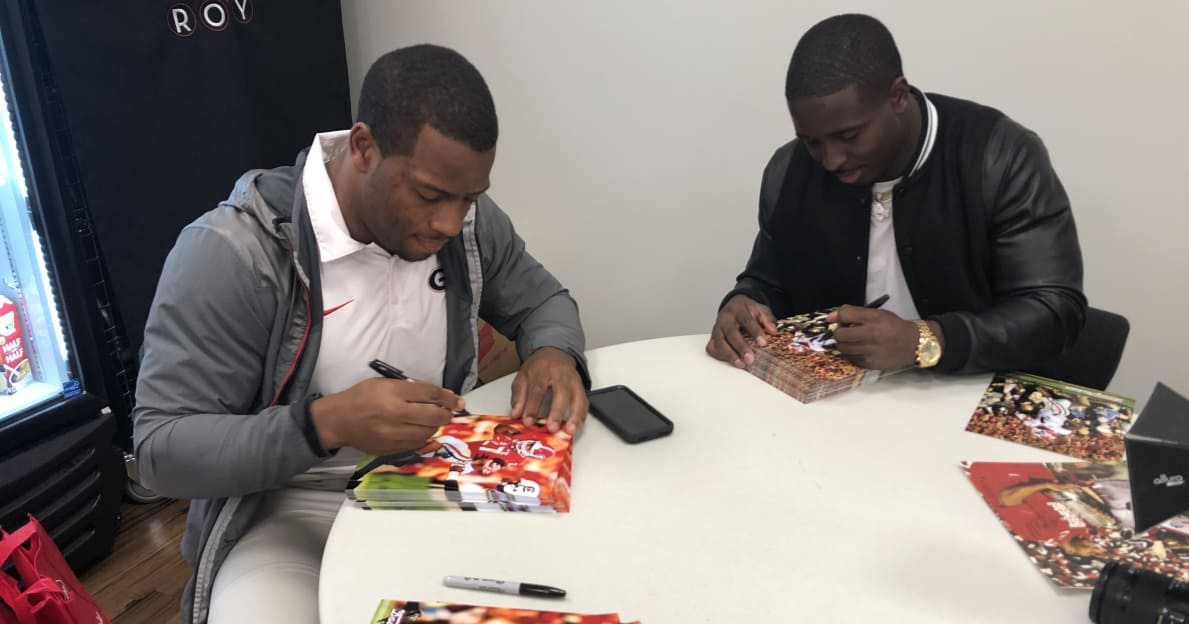 Nick Chubb, Sony Michel eager to watch Georgia's running back competition