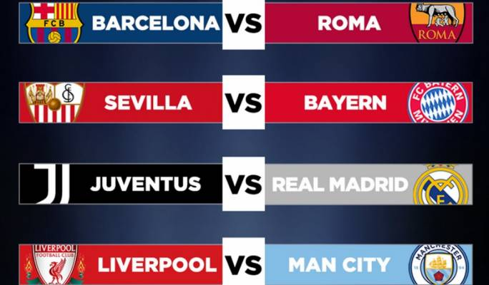 Juventus to face Real Madrid in Champions League quarter-finals