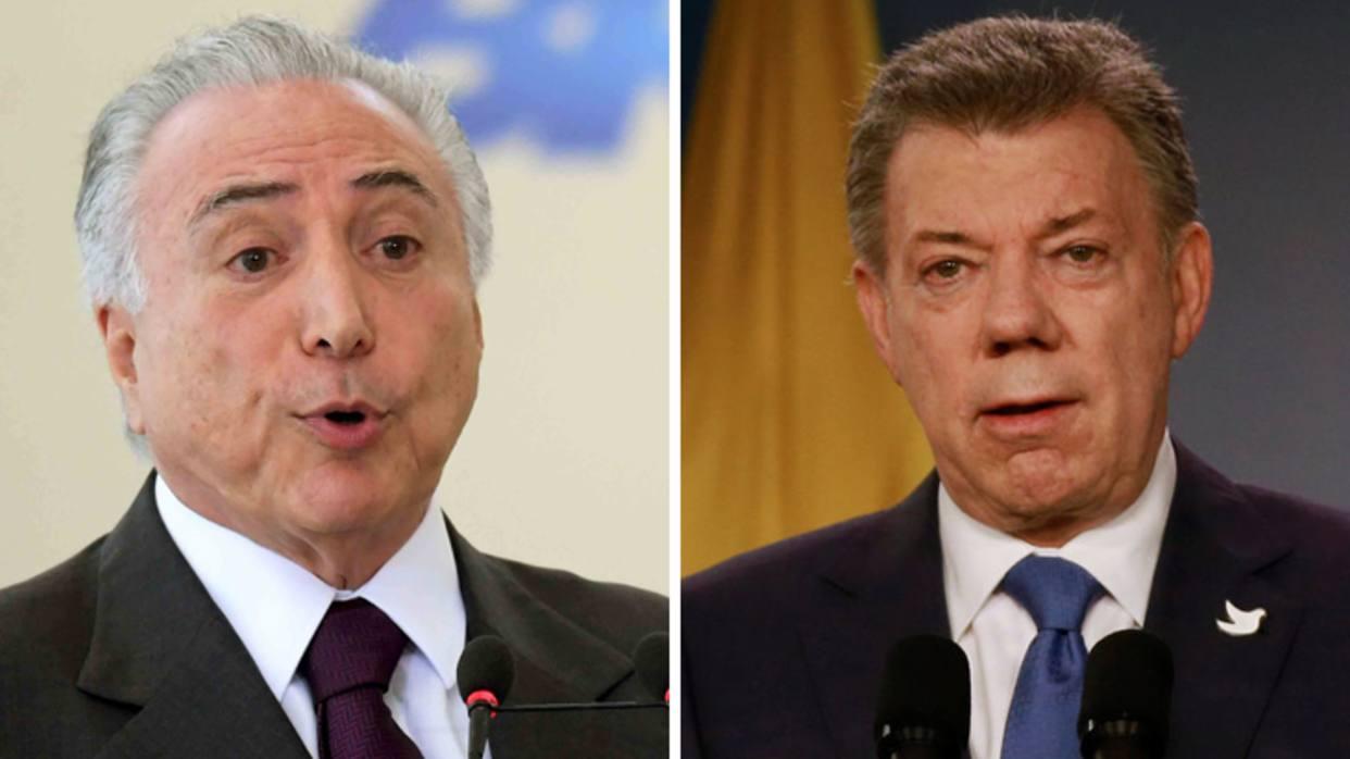 Juan Manuel Santos y Michel Temer discutirán sobre migración de venezolanos- https://t.co/NgmNZmbOfG https://t.co/r9hbF48Umk