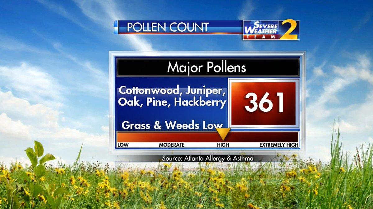 Pollen count, temps increase