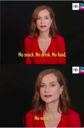 Happy birthday, Isabelle Huppert. Look what she told the party planner.