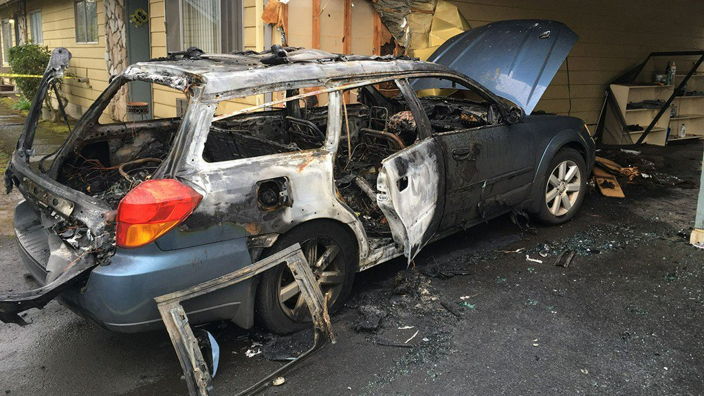 Car explosion in Beaverton was arson, police say