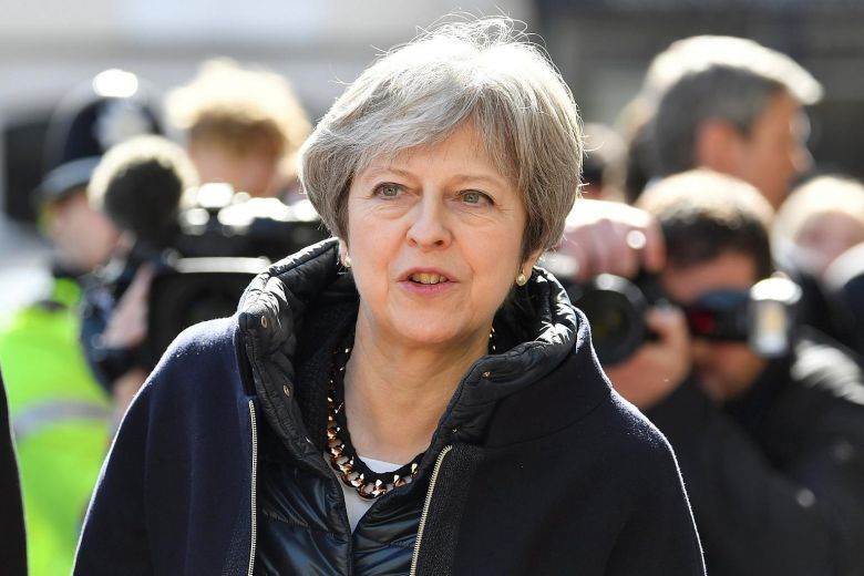 UK's Theresa May to address party members amid Russia crisis