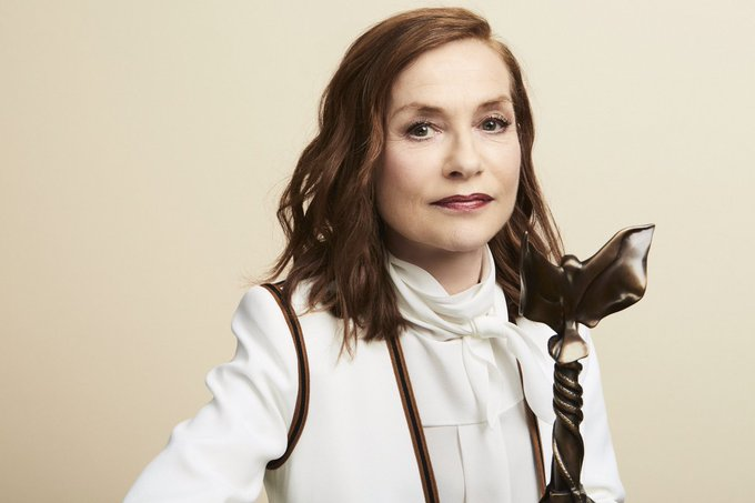 Happy birthday to legend and winner Isabelle Huppert! Smallz & Raskind, Getty Images