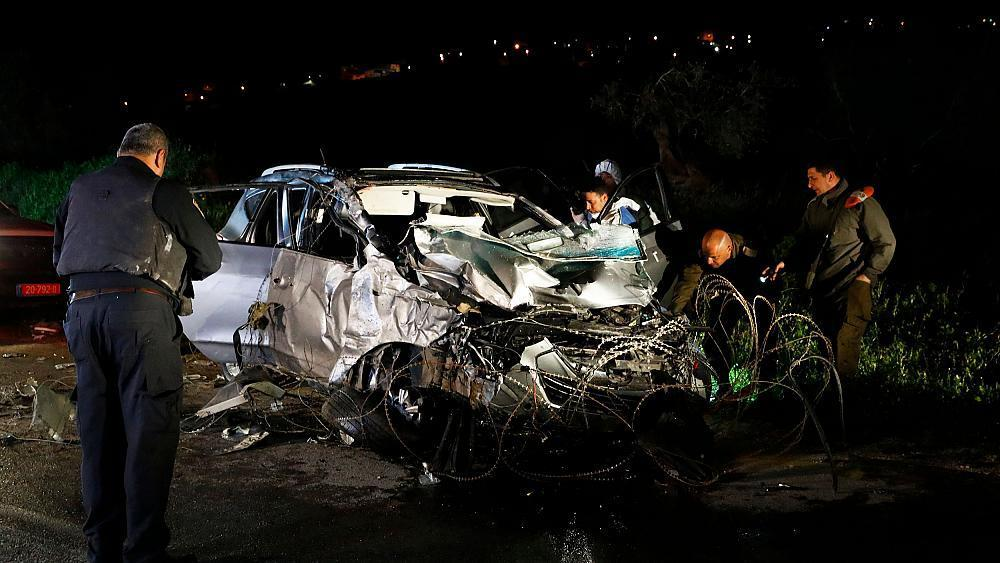 Israel says 2 soldiers killed in Palestinian car-ramming