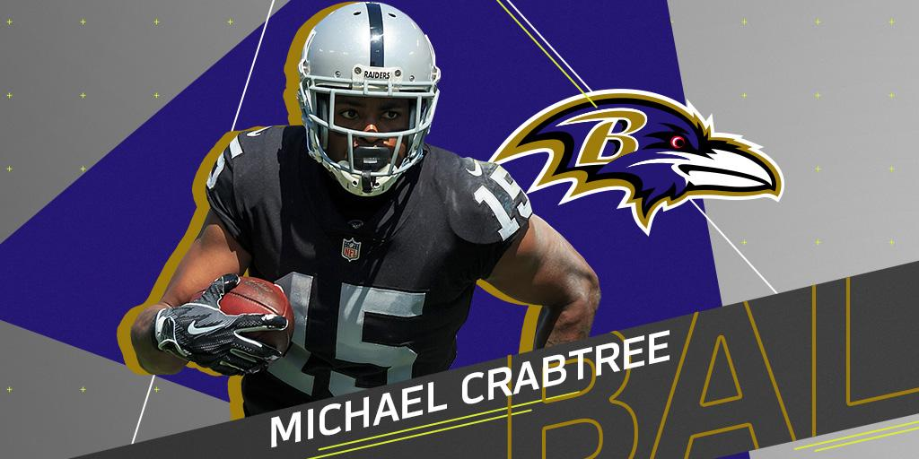 .@Ravens sign WR Michael Crabtree to three-year deal: https://t.co/eTR9kbZwmI https://t.co/3uk7gzoYML