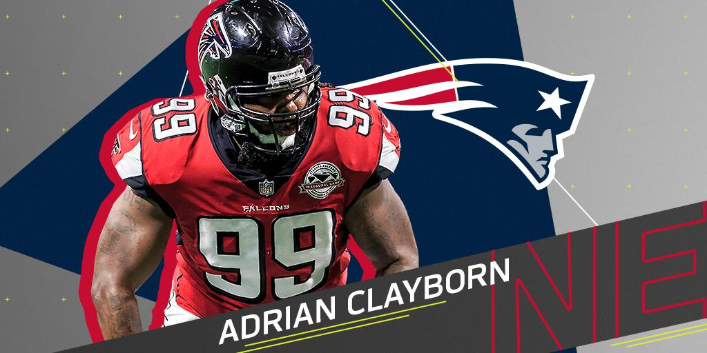 DE Adrian Clayborn (@AJaClay) expected to sign with @Patriots: https://t.co/lGSK1L2W6c https://t.co/NQWMCLhvd6