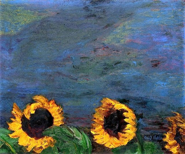 Blue sky and sunflowers Emil Nolde https://t.co/yiL7y55tzv