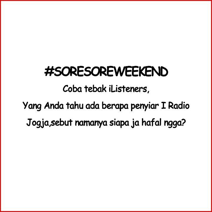 #SoreSoreWeekend