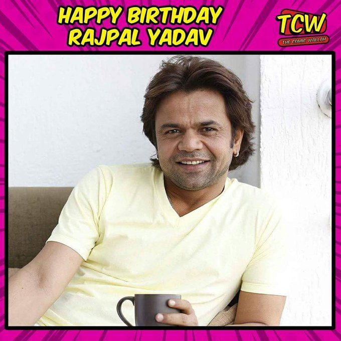 Wishing the best comedy Bollywood actor Rajpal Yadav a very happy birthday.