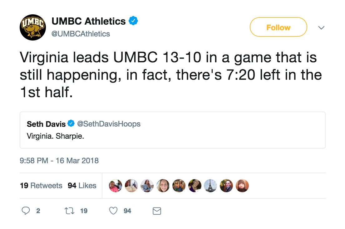 test Twitter Media - UMBC's Twitter account is last night's real winner: https://t.co/banahwungj https://t.co/tGTjrUEJlZ