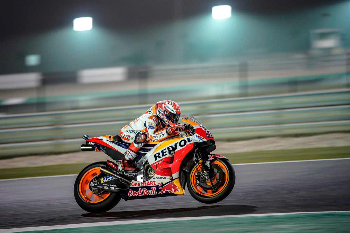 "test Twitter Media - I'm really happy as we've worked a lot during the pre-season and here, a track that, together with Sepang, is probably the least favourable circuit to me. Today was the first real ""time attack"" and we were there, and now we are on the front row"" #MM93 P2 @MotoGP #QatarGP QP https://t.co/KWe40ralN0"