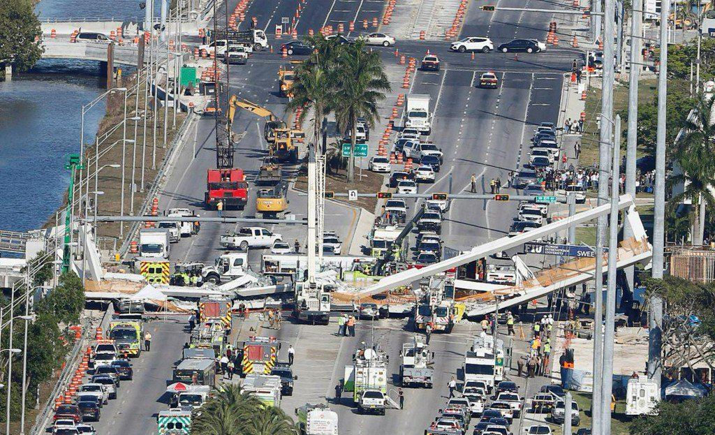 Florida school says it was aware of bridge cracks before fatal collapse https://t.co/X15uC6A14z https://t.co/Qy1ZnLPKUP