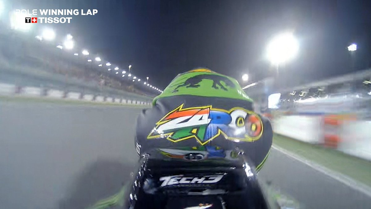 test Twitter Media - Jump on-board with @JohannZarco1 for THAT stunning, record breaking #QatarGP pole position!  This is how you clinch the @TISSOT Pole Winning Lap! #ThisisyourTime  #MotoGP | 🎥 https://t.co/AYUd6Xt5F8 https://t.co/xWfBQgT1eh