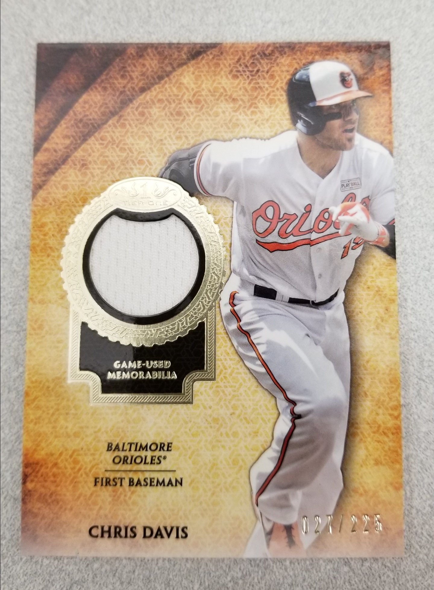 @Orioles fans, celebrate @CrushD19 's 32nd birthday and RT!       You can win this @Topps Tier One relic. #MLBcards https://t.co/g0uQYpkRol