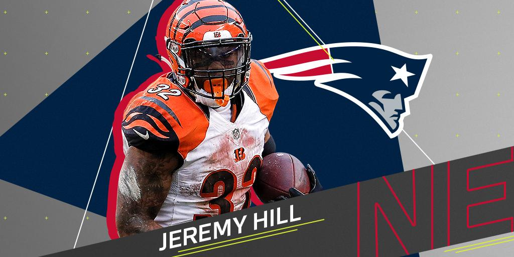 .@JeremyHill33 is the newest member of the @Patriots backfield: https://t.co/JqdOdvzcAs https://t.co/LWq3SMVcNP
