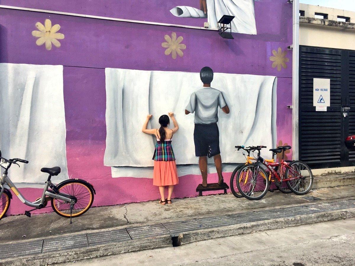 シンガポールの街を散策。洗濯物干します。  #与田祐希 #与田ちゃん #日向の温度 #シンガポール  #リト...