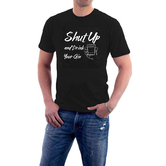 Shut Up and Drink Your #Gin #T-shirt, #Alcohol Drinking Gin Tonic Cotton Tee. https://t.co/kEh6Sg6tsz https://t.co/otiJ7YK3Gy