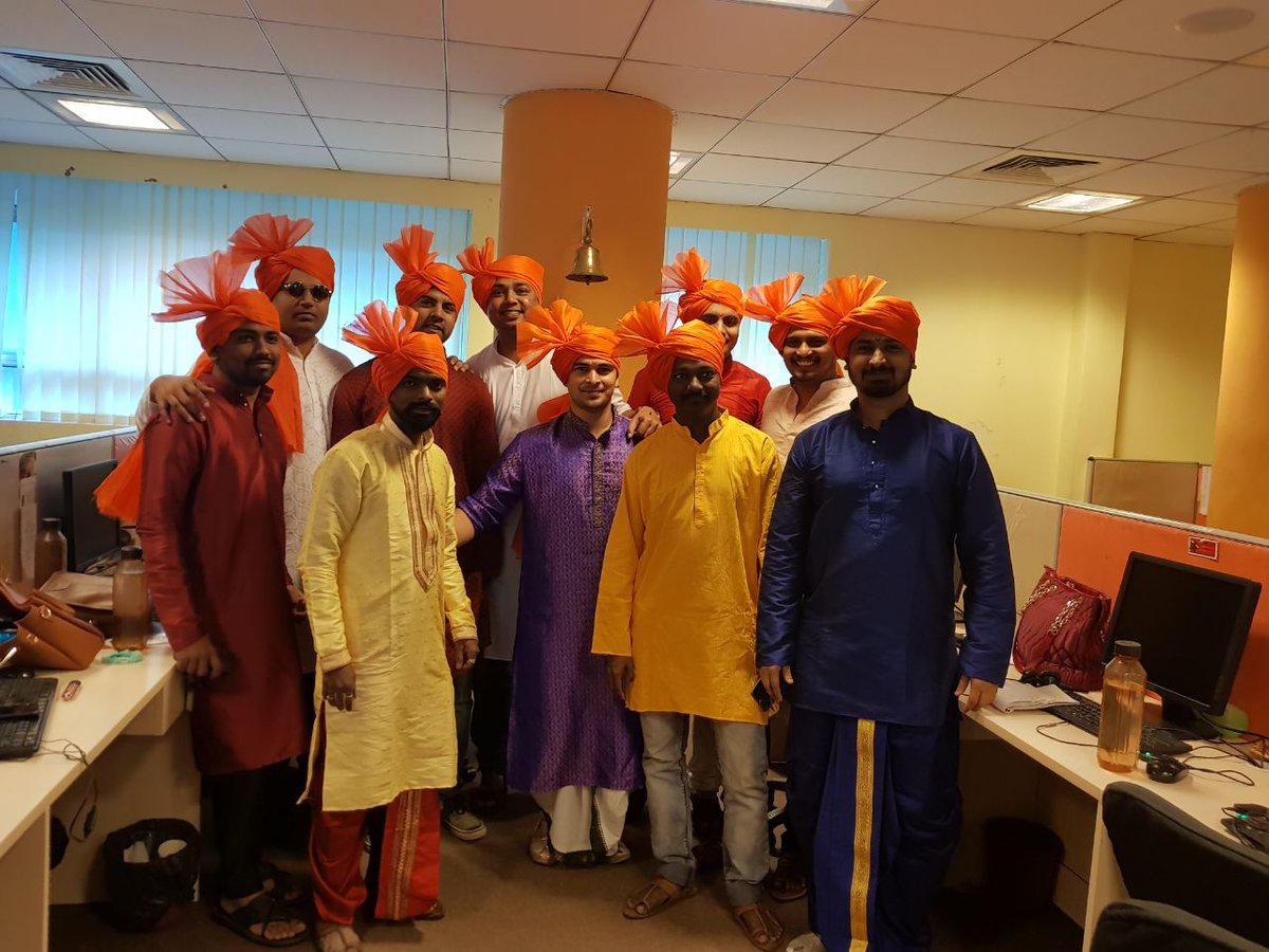 test Twitter Media - Here are some of the best captures of Gudi Padwa celebration in our office. All in traditional dress at office for gudi padwa.. @ShaadiDotCom  #Celebration #GudiPadwa #Traditional...  #GudiPadwa2018 #celebrationmood https://t.co/lmLP5oTPYy