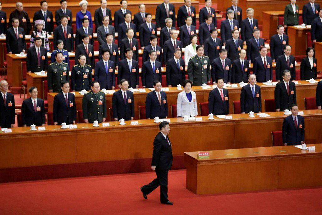 China propaganda kicks into overdrive as 'helmsman' Xi re-anointed president https://t.co/iQ5kPKkCjB https://t.co/JhsbhIx4uK